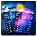 Daily weather details widget for forecast icon