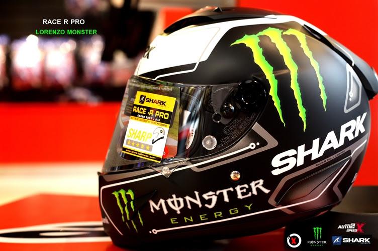 หมวกกันน็อค  SHARK RACE R PRO LORENZO MONSTER