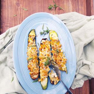 Corn and Ricotta Stuffed Zucchini