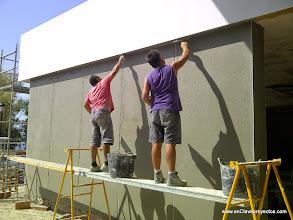 Photo: Acabado de fachadas.