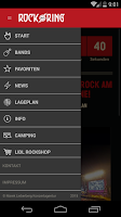 Screenshot of The official Rock am Ring App