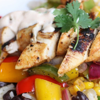 Honey-Lime Chipotle Chicken Fajita Bowls