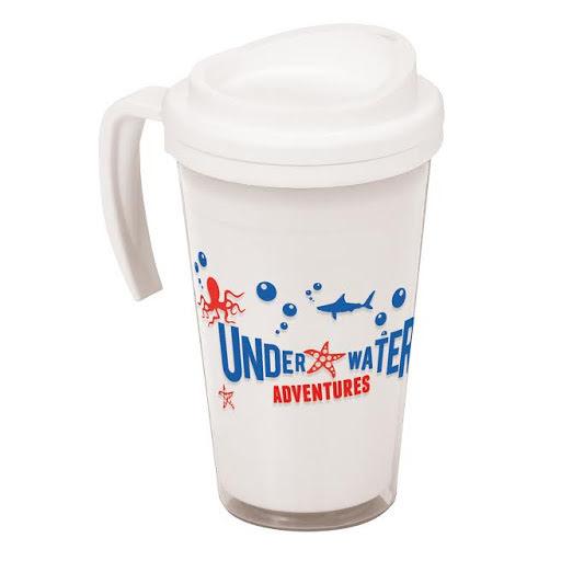 Americano Mug with Handle - White