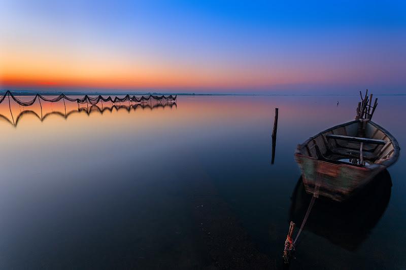 Lago al tramonto... di prometeo