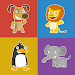 Animals memory game for kids icon