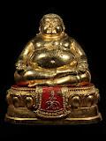 พระบูชาสังขจาย หลวงพ่อแพ วัดพิกุลทอง หน้าตัก5นิ้ว เนื้อทองผสม เคลือบกระไหล่ทองอีกชั้น ผิวหิ้ง สวยเดิม
