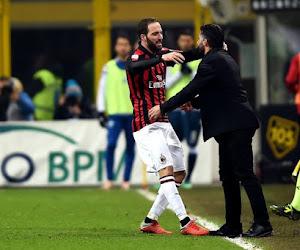 """Si ça ne tenait qu'à lui, Gennaro Gattuso """"donnerait son dîner"""" à Gonzalo Higuain"""