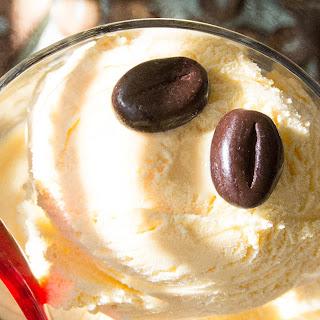 Super Easy Cheat's Tiramisu with Crushed Biscuits & Vanilla Ice Cream.
