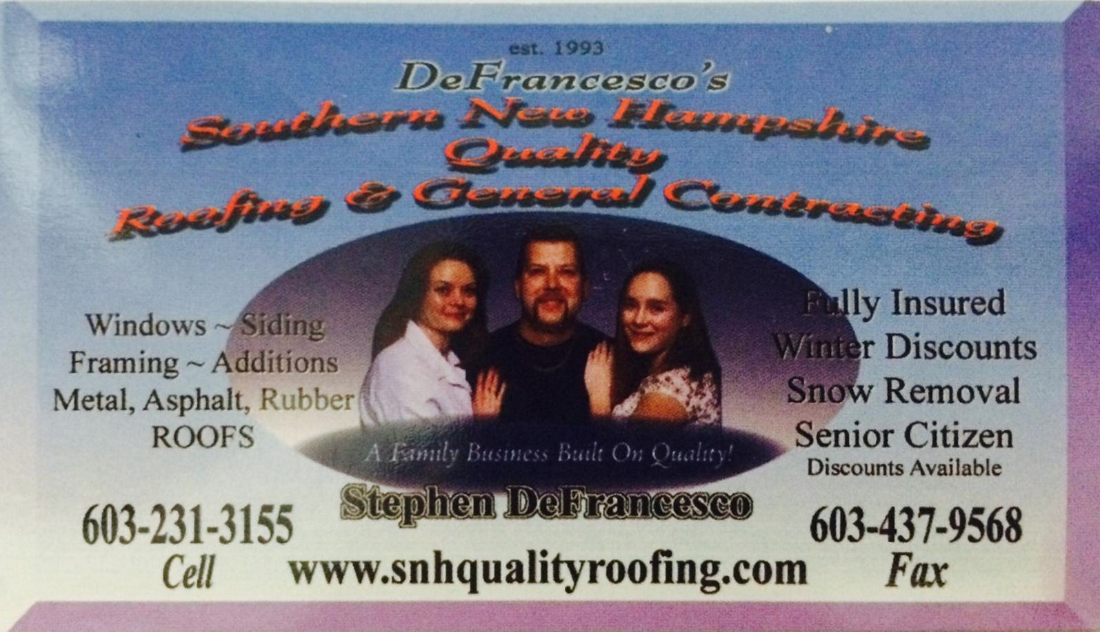 Click to go to SNH Quality Roofing