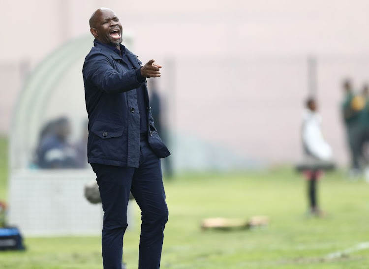 Golden Arrows coach Steve Komphela during the Absa Premiership match against AmaZulu at Sugar Ray Xulu Stadium on September 14 2019 in Durban, South Africa.