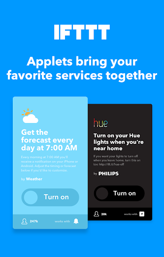 Screenshot 5 for IFTTT's Android app'