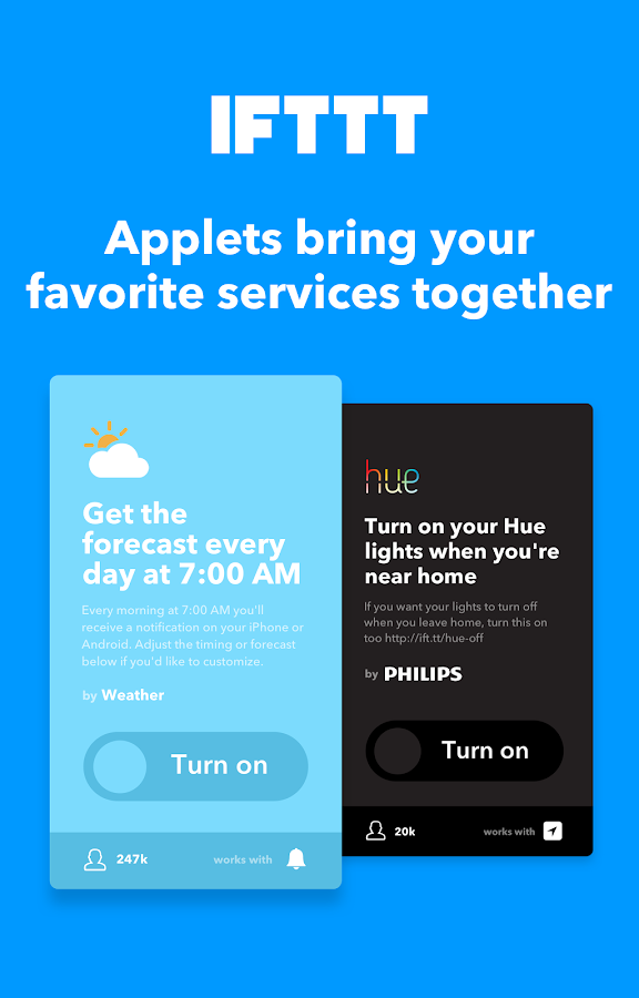 IFTTT: captura de tela