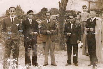 Photo: Jandro (La Acebosa), Felipe, Cecilio, Victor Moreda (Portillo), Manolo Alonso y el niño Jose Alonso.