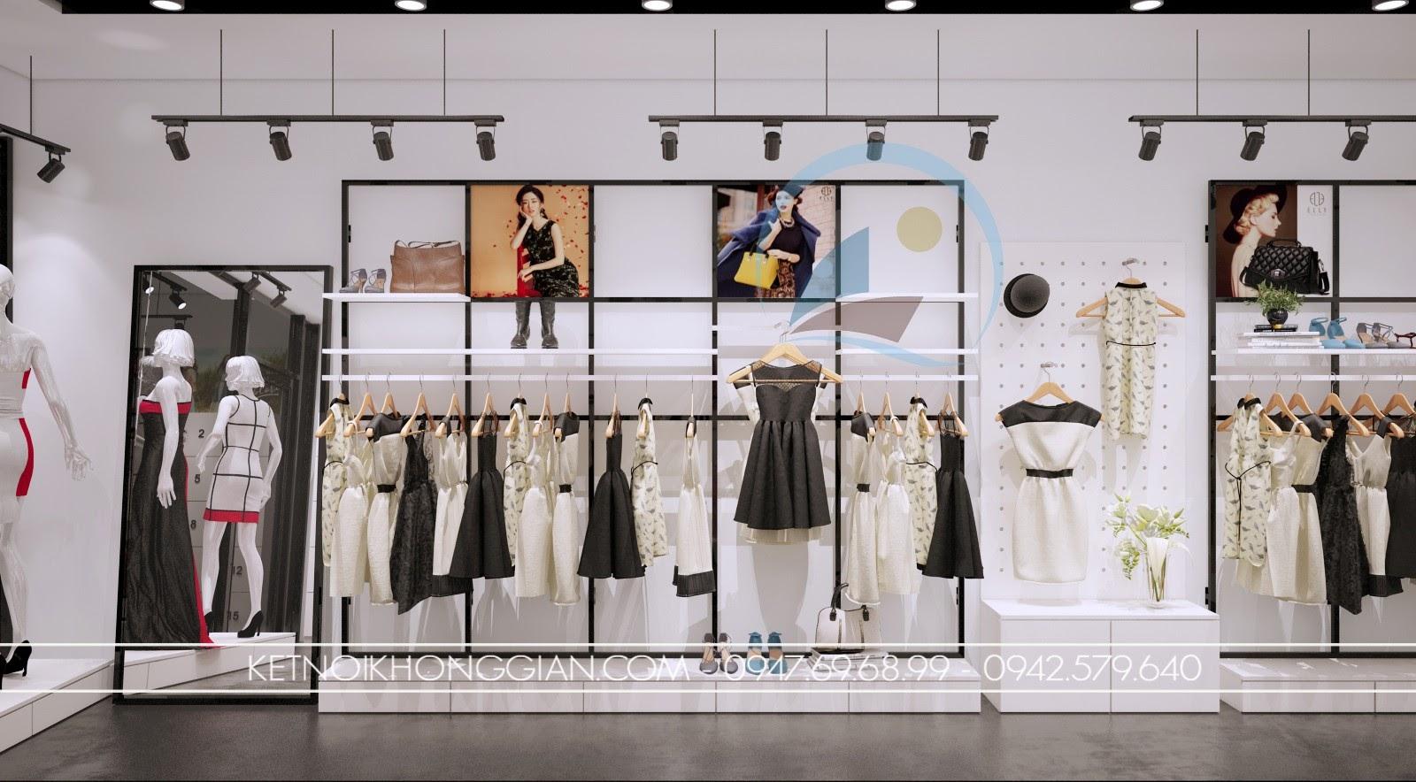 thiết kế shop thời trang giá rẻ, sang trọng, hiện đại