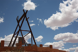 Photo: Year 2 Day 220 - Big Winch at the Lookout in Coober Pedy