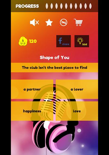 Finish The Lyrics - Free Music Quiz App 3.0.0 screenshots 9