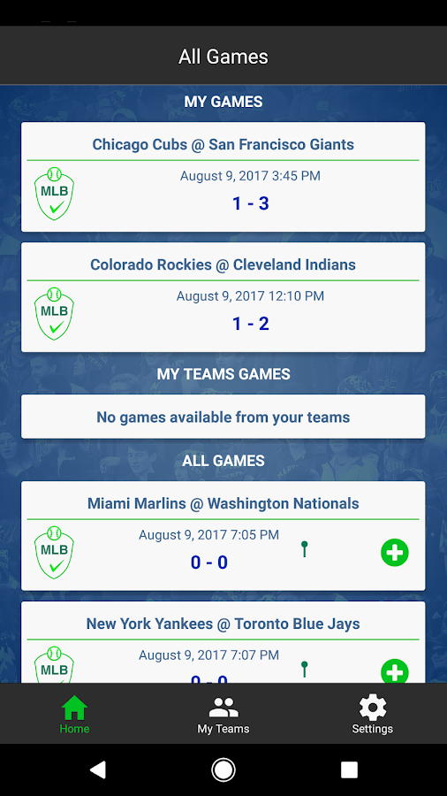 Live ScoreCaster- screenshot
