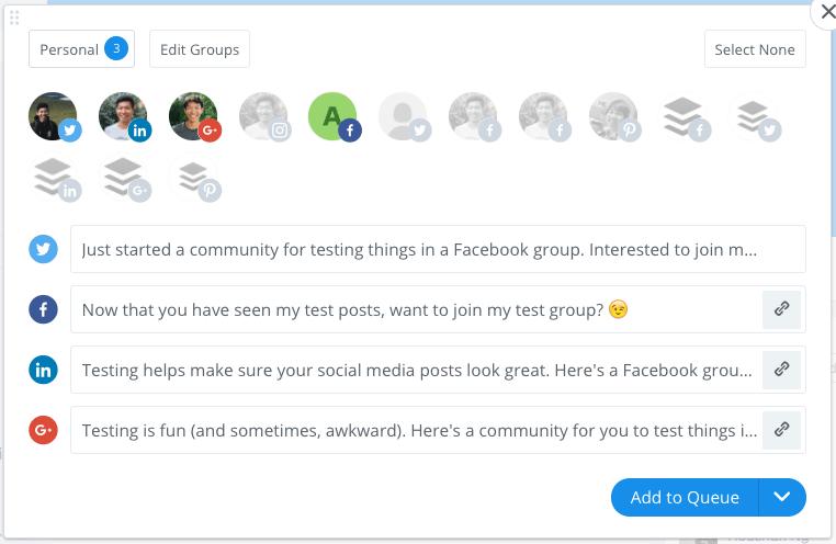 tiện ích mở rộng group facebook