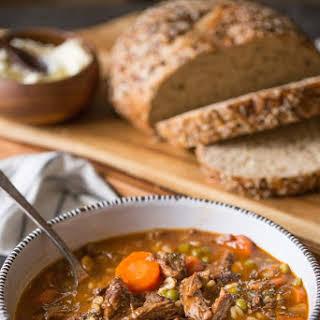 Beef and Barley Vegetable Soup.
