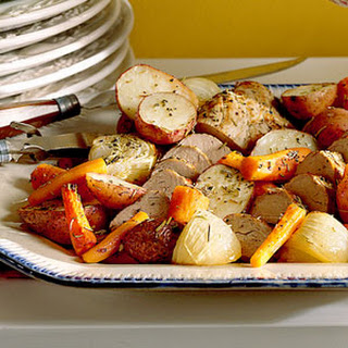 Oven-Roasted Vegetables and Pork