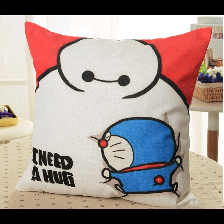 Baymax Doraemon Sofa Cushion Throw Plow Case Cover