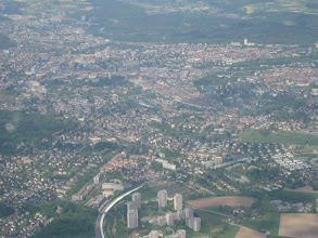 Photo: Situated within a loop of the Aare River, the city of Bern is a university, administrative, transportation, and industrial center http://www.swiss-flight.net