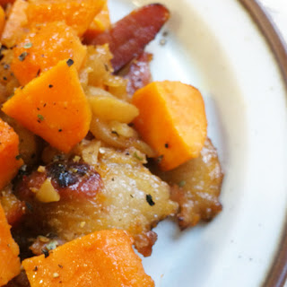Bacon Apple Sweet Potato Hash