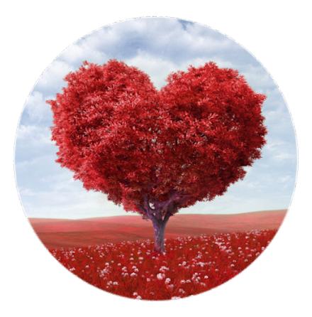 """Mobilhållare Pop-Stand """"Tree-Heart"""" ( Popsockets-alternativ )"""