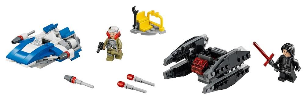 Contenido de Lego® 75196 Ala-A vs. Silenciador TIE