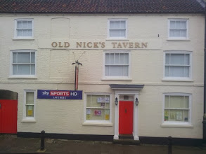 Photo: Old Nick's Tavern after the barman had got his paintbrush out. Extensively refurbished woodwork and paintwork, now a credit to the town again.