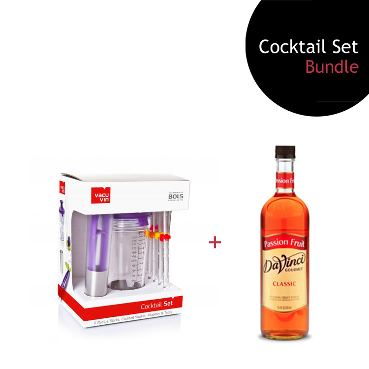 [Bundle] Cocktail Set + Passion Fruit Syrup by ECIATTO GROUP SDN BHD