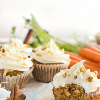 Spiced Carrot Cake Cupcakes with Cream Cheese Frosting