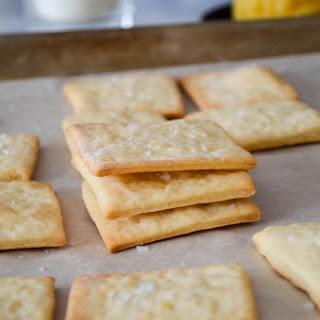 Homemade Saltines Crackers.