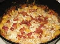 Cut up bacon into microwave safe bowl..