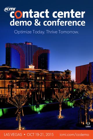 ICMI Contact Center Conference- screenshot