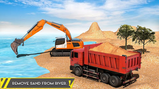Sand Excavator Offroad Crane Transporter android2mod screenshots 8