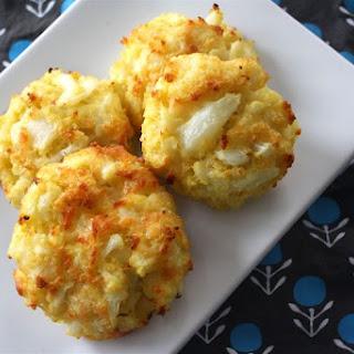 Cheesy Cauliflower Cakes.