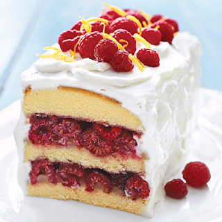 Raspberry-Lemon Cream Cake