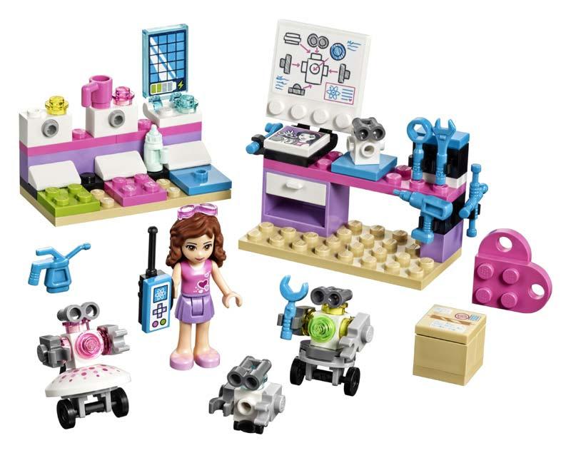 Contenido de Lego® 41307 Laboratorio Creativo de Olivia