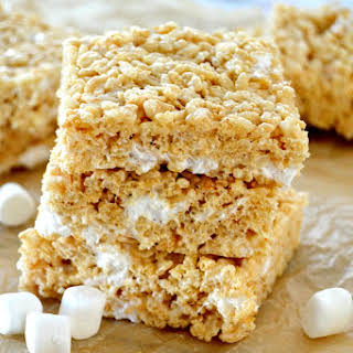 The Perfect Brown Butter Rice Krispy Treats.