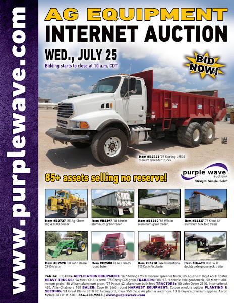 Photo: Ag Equipment Auction July 25, 2012 http://purplewave.co/120725
