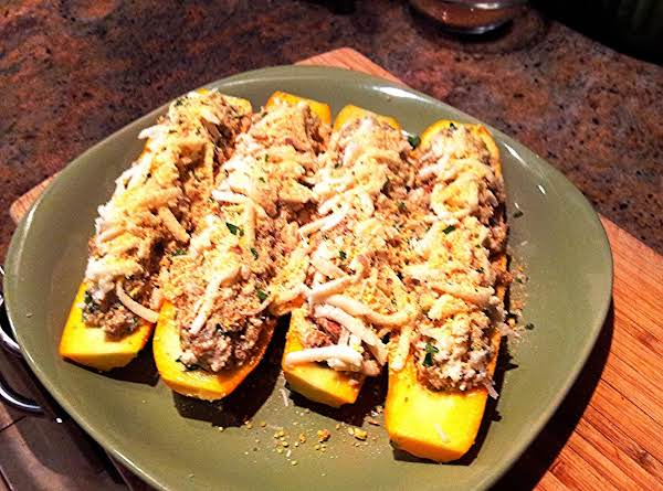 Sausage Stuffed Squash Recipe