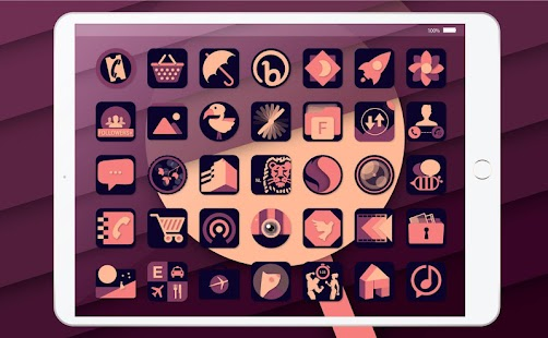 Retro Vintage Purple - Icon Pack Screenshot