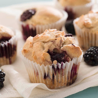 King Arthur Flour's Gluten-Free Blackberry Muffin.