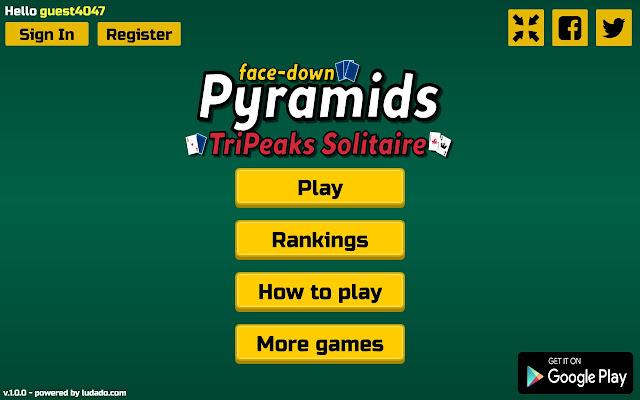 Pyramids - Tripeaks Solitaire [face-down] - Chrome Web Store