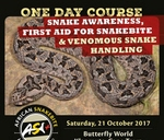 Snake Awareness and Venomous Snake Handling Course : Butterfly World