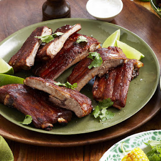 Sticky Chili Pork Ribs with Paprika Corn