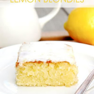Lemon Blondies with Lemon Glaze Recipe