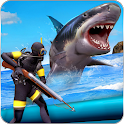 Angry Shark Attack: Deep Sea Shark Hunting Games icon