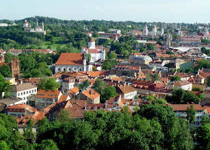 Photo: This is the old town from the upper castle.  The fortification was built to protect the pagan town from the German Crusaders.